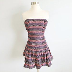 French Connection tiered ruffle strapless dress